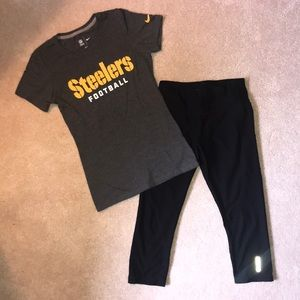 Bundle of 2. Steeler Nike T-shirt & Reebok Legging
